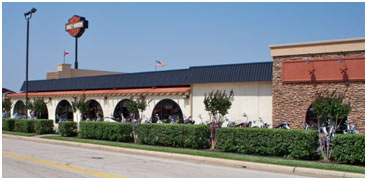 Commericial exterior painting of Harley Davidson by Big Six Painting, Dallas Metroplex, TX