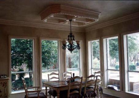 Sunny Breakfast Room + Ceiling