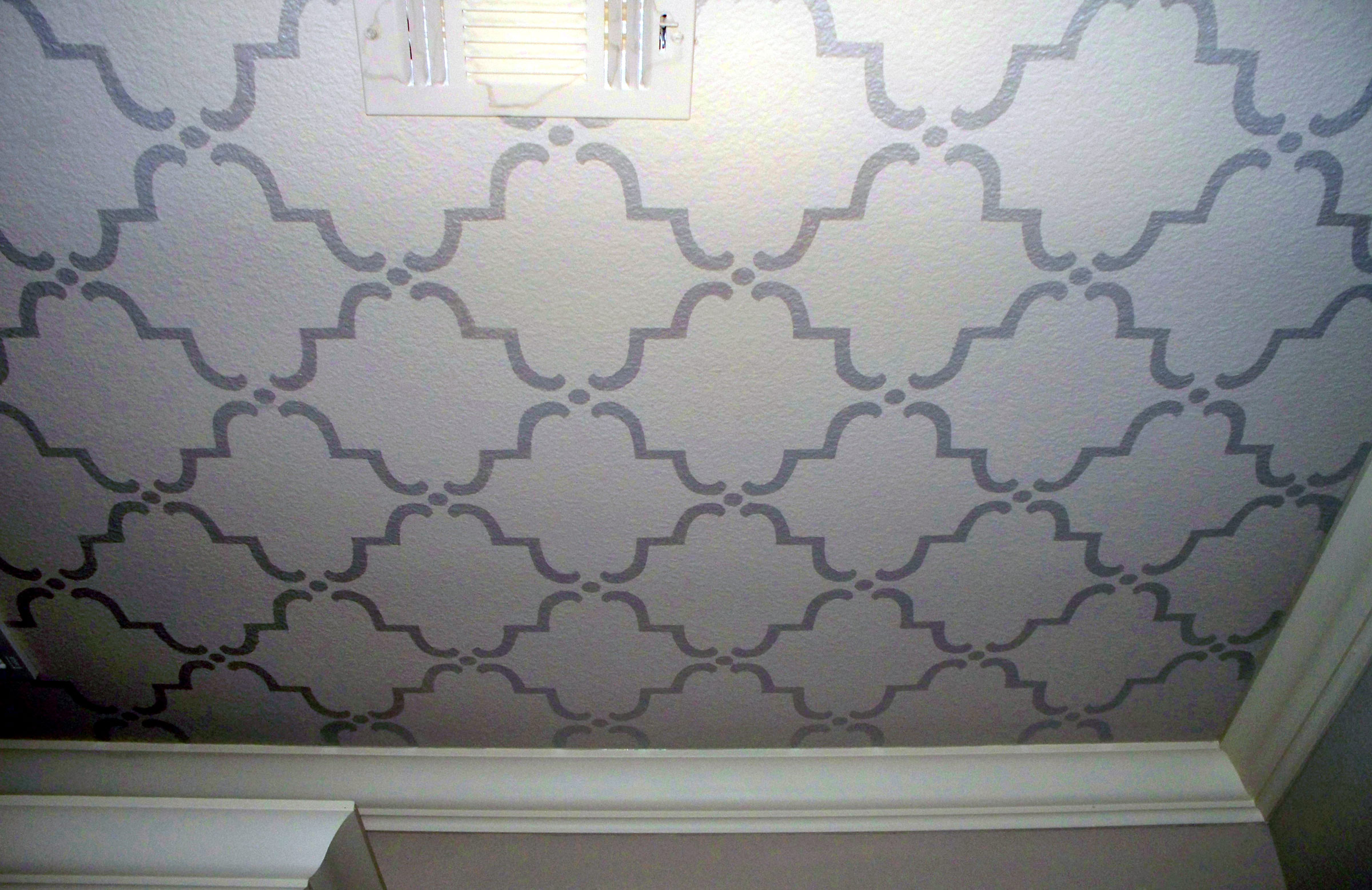 Modern Stencil Design on Ceiling